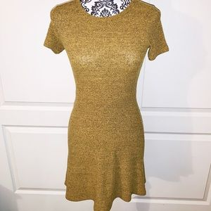Forever 21 Yellow Skater Dress SIZE SMALL
